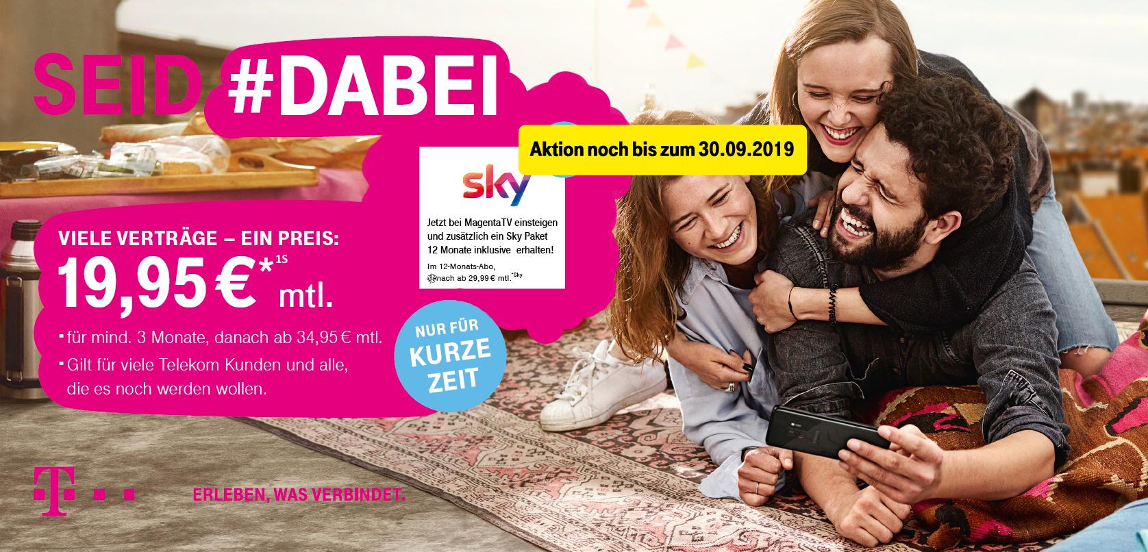 Telekom #dabei Aktion