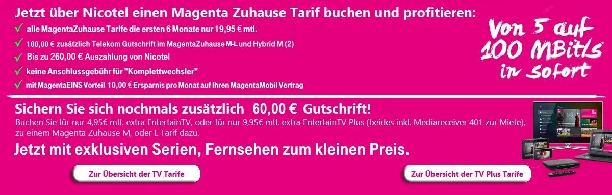 Nicotel Mobilfunk Zur Bestellung Der Magentazuhause Tarife S L