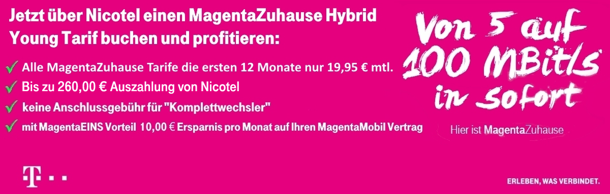 MagentaZuhause Hybrid Young Banner