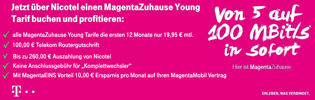 MagentaZuhause Young Banner