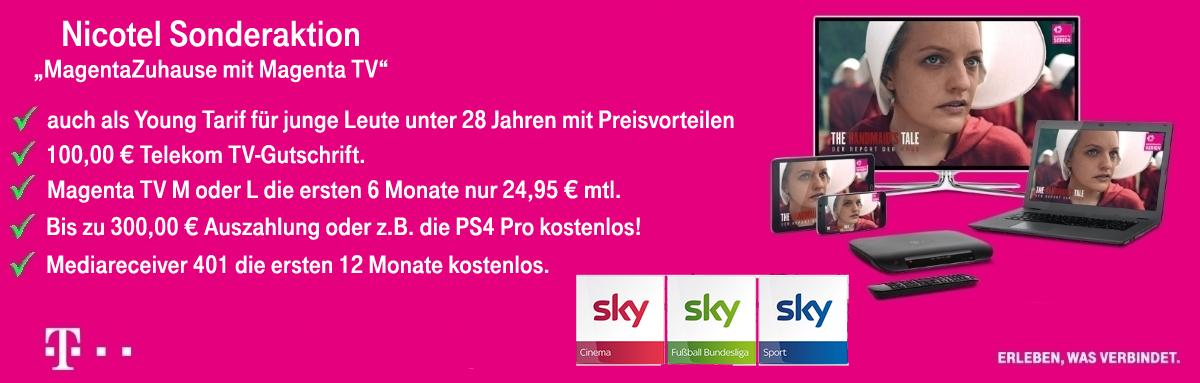 MagentaTV Angebot mit Auszahlung
