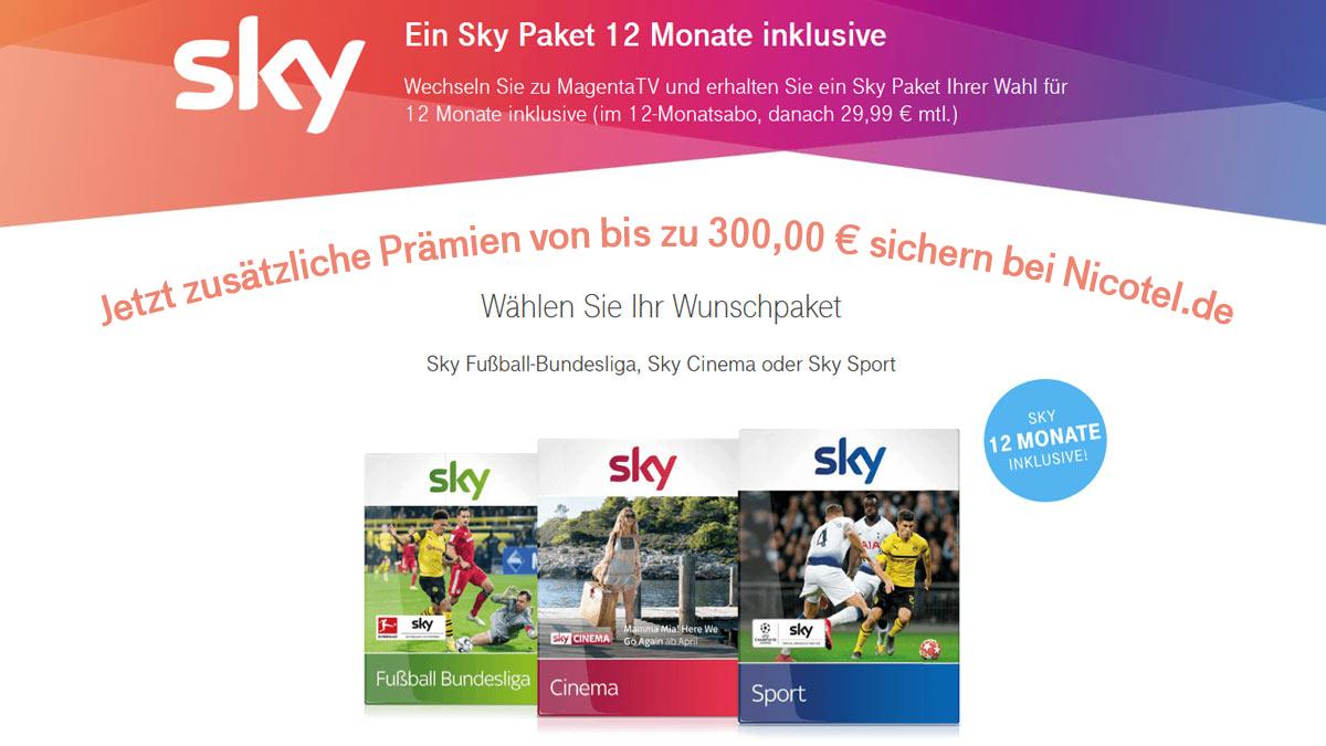 Telekom 12 Monate Sky
