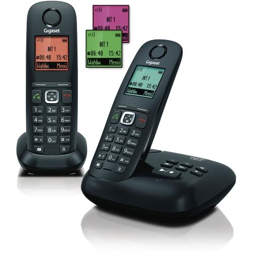 Gigaset A540A Duo anthrazit/schwarz mit Anrufbeantworter